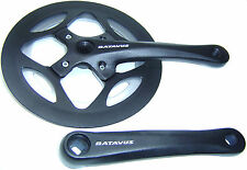 Batavus by Sugino singelspeed fixie manivela 48 Z cuatro cantos 170mm aluminio negro nuevo