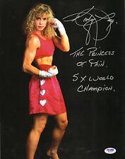 Kathy Long Signed 5x World Champ Kickboxing 11x14 Photo PSA/DNA COA Picture UFC