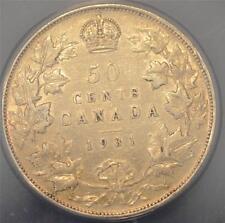 1931 EF 40, ANACS graded Canada Fifty Cents
