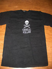 CEREAL KILLER small T shirt serial humor tee skull & crossbones breakfast OG