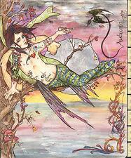 BELLISSIMA opera d'arte originale ~ autunno MASCHIO Faerie Fairy nella struttura ~ MORTIMER Sparrow