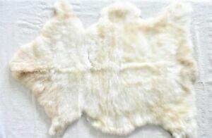 100% Genuine SHEEPSKIN RUG, Beige Brown Single Natural Sheepskin Fur, 28 x 37