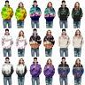 Women's Men's Floral 3D Print Pullover Casual Tops Hoodies Coat Sweatshirts