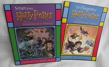 New Lot of 2 Harry Potter and the Sorcerers Stone Stained Glass Art Book