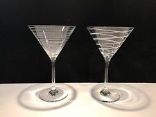 "Two (2) Mikasa Martini Glasses - 7 1/2"" Tall"