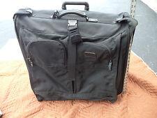 Tumi Alpha Long 2 Wheeled Garment Bag Travel Luggage Fold Over Black Ballistic