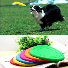 Strong Silicone Pet Durable Indestructible Flying Disc Dog Chew Toys Frisbee Hot