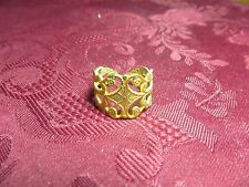 Gold Plated Womens Adjustable Fashion Ring Sz 7-8