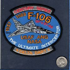 F-106 DELTA DART FIS NASA USAF Convair Fighter Interceptor Squadron Jacket Patch