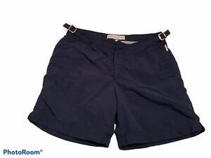 Orlebar Brown Mens Navy Bulldog Swim Shorts Size 30 RRP £ 165