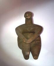 Copie terre cuite Statuette Femme assise CERNAVODA, Néolithique Roumani.