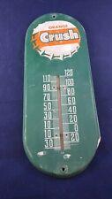 Vintage Metal Orange Crush Thermometer Sign - Antique Old Soda Drink Cola