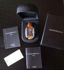Herren Armbanduhr - Emporio Armani AR5329 im italienischen Stil mit 2 Zeitzonen