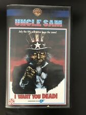 Uncle Sam Ex-Rental Vintage Big Box VHS Tape English with dutch subs Horror