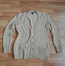 APART Damen Strickjacke Cardigan Gr. 40 42 Beige Baumwolle