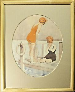 L Vallet Framed Print  La Vie Parisienne Cover Women Bathers