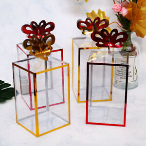 10X Clear PVC Cases Wedding Party Favor Gift Candy Display Boxes Transparent DIY