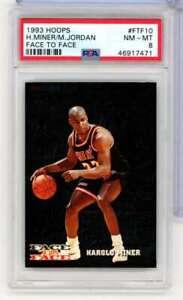 1993-94 NBA HOOPS FACE TO FACE MICHAEL JORDAN/MINER #FTF10 PSA NM-MT 8 WC9259