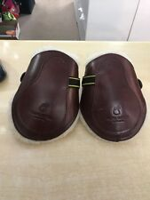 FRANK BAINES REMOVABLE SHEEPSKIN FETLOCK BOOTS COB SIZE NUT BROWN