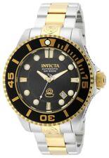 Invicta 19803 Mens Grand Diver Automatic Dive Black Dial Two Tone Steel Bracelet