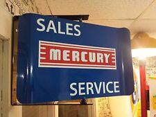 Mercury Sales Service 1960S Era Spinning Wall Mount Ad Sign Marauder Comet