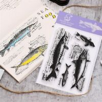Hot Fish Transparent Clear Silicone Stamp/Seal for DIY Scrapbooking/Album Decor.