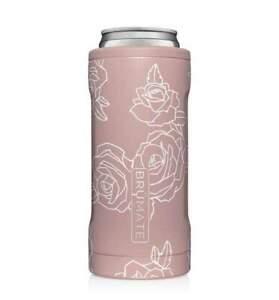 Brumate Hopsulator Slim Can Cooler Tumbler 12 oz Drink Holder ROSE