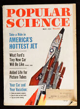Popular Science May 1962 Cars Space Boats 60's Vintage tech diy details