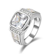 Fantastic White Topaz Engagement Fashion Rings New listing Size 9 Mens 18K Gold Filled