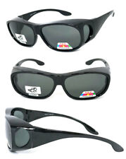 POLARIZED Cover Put Fit over Sunglasses wear Rx glass Fit Driving UV400