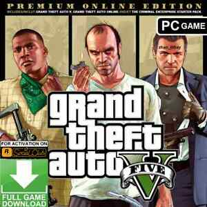 GTA 5 PC Grand Theft Auto V Premium Online Edition ROCKSTAR KEY only Global