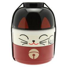 1x Japanese Kokeshi Red Cat   Bento Box #280-225