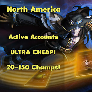 League of Legends LOL NA Account Smurf Random Skins Champs RP BE Unranked Level