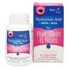 Hyalogic Hair Skin Nails HA Collagen Builder 30 Chewable Lozenges Biotin Silica