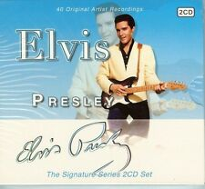 ELVIS PRESLEY - SIGNATURE SERIES - 2 CD SET - 40 ORIGINAL HITS - NEW