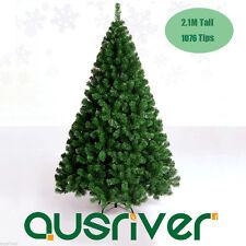 2.1M 7FT Green Xmas Tree Life Like Christmas Tree Bushy 1076 PVC Tips GRN210