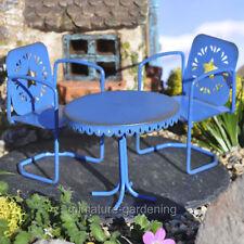 Miniature Fairy Garden Blue Star Bistro, 3 Piece Set