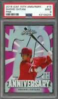 Shohei Ohtani Rookie Card 2018 Leaf 70Th Anniversary Pink #15 Angels PSA 9