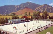 OLYMPIC SKATING RINK, Lodge at SUN VALLEY, ID Union Pacific Pictorial Post Card