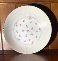 """Parisienne Nagoya Shokai Japan Fine China Round Serving Bowl Pink Rose Buds  9"""""""