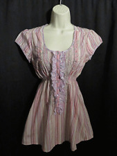 3J Workshop Johnny Was Top Blouse Smocked Waist Embroidered S