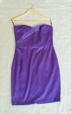 JANE NORMAN PURPLE BANDEAU PARTY DRESS ~ SIZE 12 ~ BRAND NEW WITH TAGS