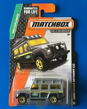 LONG CARD 2014 Matchbox GREY 1997 LAND ROVER DEFENDER 110 - Mint on card!