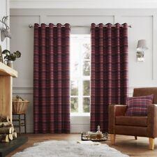 Luxury Curtina Cameron Tartan Heavy Weight Lined Eyelet Curtains Purple