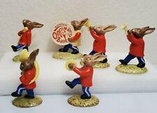 Royal Doulton Bunnykins Band Set of 6 Golden Jubilee 1984 Oompah Figurines