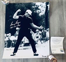 GARY PLAYER THE BLACK KNIGHT - SIGNED & INSCRIBED - 1965 US OPEN 16X20 PHOTO UDA