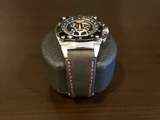 Seiko Sportura Kinetic Chronograph leather strap Made In Taiwan Cheergiant strap