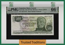 TT PK 303c 1977-82 ARGENTINA 500 PESOS ARGENTINOS SAN MARTIN PMG 66 EPQ GEM UNC!