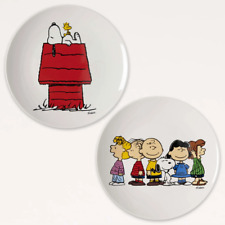 More details for magpie x peanuts set of 2 plates snoopy & gang