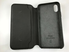 Original Genuine Apple Folio Leather Case wallet card holder for iPhone X Black